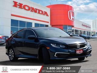 Used 2019 Honda Civic EX POWER SUNROOF | APPLE CARPLAY™ & ANDROID AUTO™ | HONDA SENSING TECHNOLOGIES for sale in Cambridge, ON