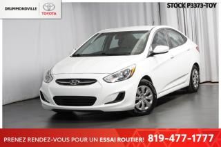 Used 2016 Hyundai Accent ENTRETIEN COMPLET| AUTOMATIQUE| SIÈGES CHAUFFANTS for sale in Drummondville, QC