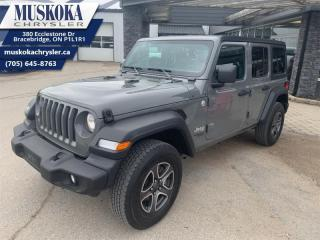 Used 2020 Jeep Wrangler Unlimited Sport S  - Low Mileage for sale in Bracebridge, ON