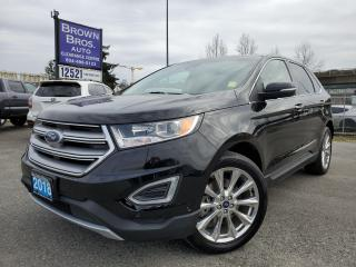 Used 2018 Ford Edge Titanium, LOCAL, NAVIGATION, ROOF, LTHR for sale in Surrey, BC