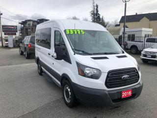 Used 2016 Ford Transit 150 XLT 10 PASSENGER 3.7L V6 275HP 6 SPD AUTO for sale in Langley, BC