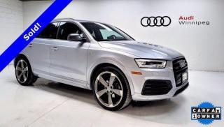 Used 2017 Audi Q3 Technik w/S-Line Package *Low KM-Local Trade* for sale in Winnipeg, MB