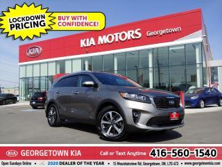 Used 2019 Kia Sorento EX V6 PREMIUM | 1 OWNR| CLN CRFX| 7 PASS| NAV |26K for sale in Georgetown, ON