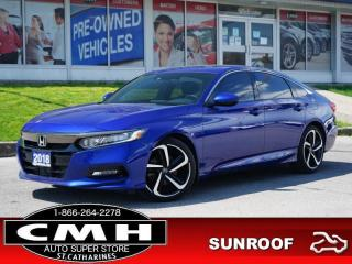 Used 2018 Honda Accord Sedan Sport CVT  CAM ROOF LEATH P/SEAT 19-AL for sale in St. Catharines, ON