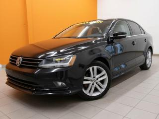 Used 2017 Volkswagen Jetta HIGHLINE CAMÉRA ALERTES SIÈGES CHAUFF TOIT *CUIR* for sale in St-Jérôme, QC
