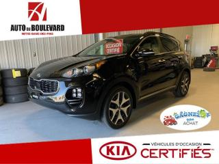 Used 2018 Kia Sportage SX TURBO GPS CUIR CANYON TOIT PANO + EQU for sale in Notre-Dame-des-Pins, QC