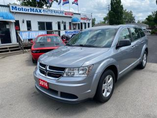 Used 2016 Dodge Journey Canada Value Pkg-Accident Free for sale in Stoney Creek, ON