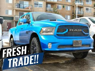 Used 2018 RAM 1500 HYDRO BLUE PEARL SPORT CREW CAB 4X4 OWN-OWNER ACCIDENT-FREE for sale in Red Deer, AB
