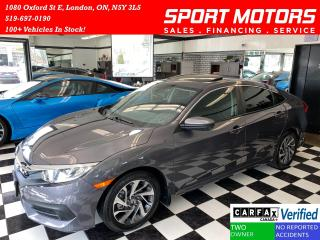 Used 2016 Honda Civic EX+Sunroof+Camera+ApplePlay+Alloys+ACCIDENT FREE for sale in London, ON