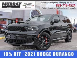 New 2021 Dodge Durango R-T AWD for sale in Winnipeg, MB