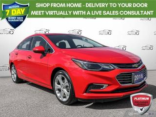 Used 2016 Chevrolet Cruze Premier Auto Auto Leather/Roof/Bluetooth for sale in St Thomas, ON