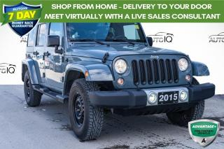 Used 2015 Jeep Wrangler Unlimited Sahara DUAL TOPS | LOCAL TRADE for sale in Innisfil, ON