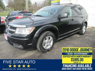 Used 2010 Dodge Journey SE 7 SEATER - Certified w/ 6 Month Warranty for sale in Brantford, ON