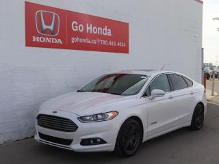 Used 2016 Ford Fusion Titanium Hybrid, LEATHER, SUNROOF, NAVIGATION! for sale in Edmonton, AB