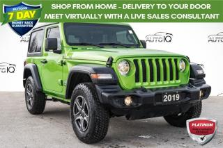 Used 2019 Jeep Wrangler Sport MOJITO GREEN  | LOCAL TRADE for sale in Innisfil, ON