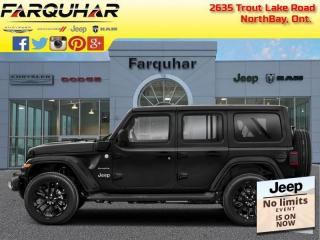 New 2021 Jeep Wrangler 4xe Unlimited Rubicon 4xe for sale in North Bay, ON