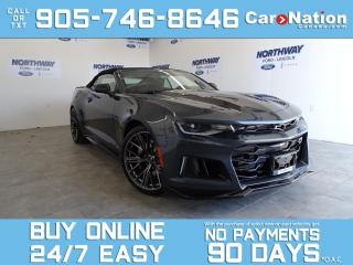 Used 2021 Chevrolet Camaro ZL1 | CONVERTIBLE | LEATHER | NAV | SUPERCHARGED! for sale in Brantford, ON