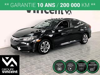 Used 2016 Honda Civic LX ** GARANTIE 10 ANS ** Votre chance d'obtenir une Civic à bas prix! for sale in Shawinigan, QC