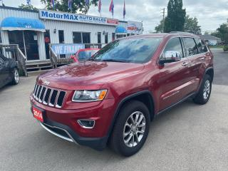 Used 2014 Jeep Grand Cherokee Limited-4x4-Navi-Lthr-Sunroof-We Finance for sale in Stoney Creek, ON