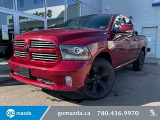 Used 2014 RAM 1500 SPORT - HEMI, LEATHER, COOLED SEATS, SUNROOF, MINT! for sale in Edmonton, AB