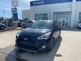 Used 2016 Hyundai Veloster TURBO/AUTO/LEATHER/SUNROOF/NAV/BACKUPCAM for sale in Edmonton, AB