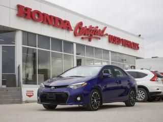 Used 2016 Toyota Corolla S | SUNROOF | LEATHER | NAVI | for sale in Winnipeg, MB