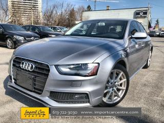 Used 2015 Audi A4 2.0T Progressiv plus LEATHER  ROOF  NAVI  HTD SEAT for sale in Ottawa, ON