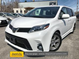 Used 2019 Toyota Sienna SE 8-Passenger REAR DVD PERFORATED LEATHER  ROOF for sale in Ottawa, ON