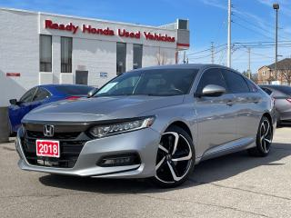 Used 2018 Honda Accord Sedan Sport - Sunroof - Rear Camera -  Lane Watch for sale in Mississauga, ON