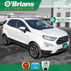 Used 2020 Ford EcoSport Titanium w/4WD, Leather, Heated Seats, Backup Camera, Navigation for sale in Saskatoon, SK