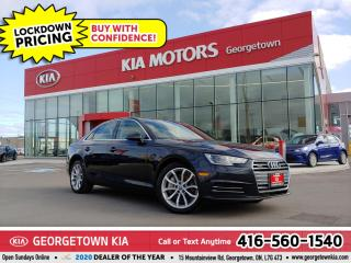 Used 2017 Audi A4 PROGRESSIV QUATTRO| LTHR| NAV | SUNROOF | BT | 74K for sale in Georgetown, ON