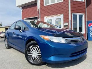 Used 2012 Honda Civic 4 portes, boîte manuelle, DX for sale in Drummondville, QC