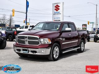 Used 2017 RAM 1500 Big Horn Crew Cab 4x4 ~Htd. Seats/Wheel ~Cam ~Roof for sale in Barrie, ON