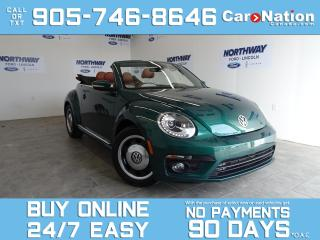 Used 2017 Volkswagen Beetle Convertible CLASSIC | CONVERTIBLE | LEATHER | ONLY 31 KM! for sale in Brantford, ON