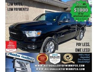 Used 2020 RAM 1500 Big Horn* 4x4/Quad/Hitch Receiver/REMOTE STARTER for sale in Winnipeg, MB