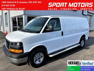 Used 2018 GMC Savana 2500 Cargo 6.0L V8+Camera+Cruise+ACCIDENT FREE for sale in London, ON