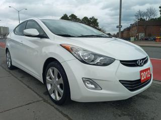 Used 2012 Hyundai Elantra Limited-ECO-141K-LEATHER-SUNROOF-BLUETOOTH-ALLOYS for sale in Scarborough, ON