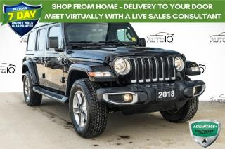 Used 2018 Jeep Wrangler Unlimited Sahara LOADED LEASE RETURN | DUAL TOPS for sale in Innisfil, ON