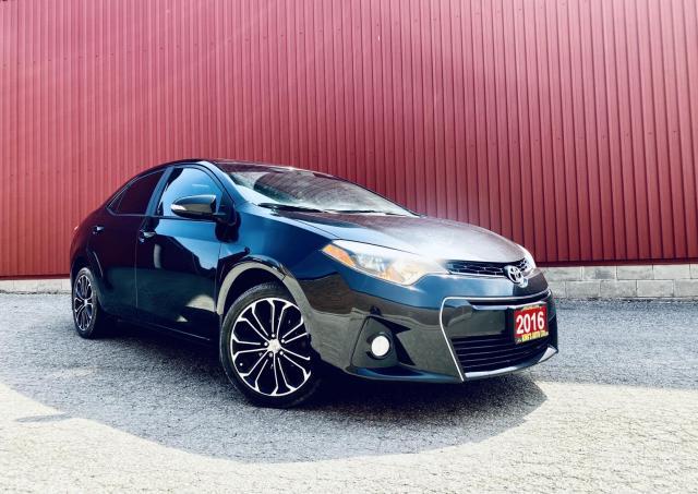 2016 Toyota Corolla S- Leather, Navi B-cam, Sunroof, Auto