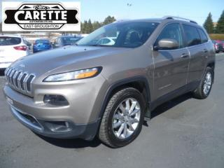 Used 2018 Jeep Cherokee Limited 4x4 gps-cuir-toit for sale in East broughton, QC