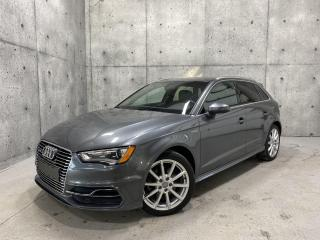 Used 2016 Audi A3 E-TRON PROGRESSIVE HYBRID GPS CUIR TOIT PANO for sale in St-Nicolas, QC