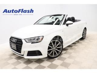 Used 2017 Audi A3 TECHNIK QUATTRO *S-LINE *CABRIOLET *BANG-&-O for sale in St-Hubert, QC