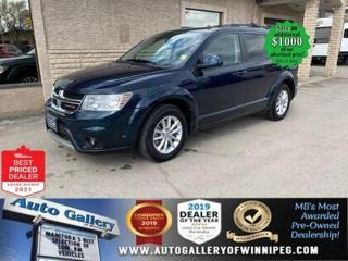 Used 2013 Dodge Journey SXT* 9VIDEO Screen/Satellite Radio/7 SEATER for sale in Winnipeg, MB