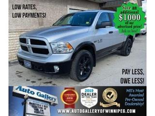 Used 2018 RAM 1500 Outdoorsman*  4x4/Remote Starter/LOW KILOMETRES for sale in Winnipeg, MB