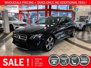 Used 2020 Mercedes-Benz E-Class E 350 4MATIC - Accident Free / Local / Nav / Leather for sale in Richmond, BC