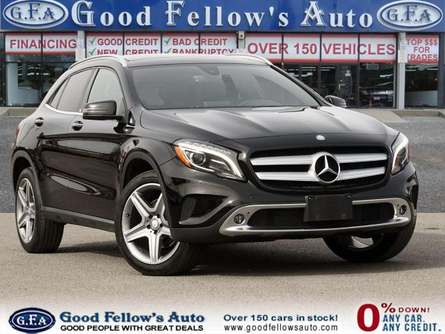 2017 Mercedes-Benz GLA 250 4MATIC, PAN ROOF, NAVI, BACKUP CAM, LEATHER SEATS