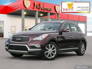 Used 2017 Infiniti QX50 Leather/Power/Heated Seats, Sunroof, Keyless Entry for sale in Brandon, MB