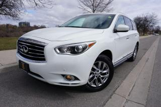 Used 2013 Infiniti JX35 NAVIGATION / LOCAL VEHICLE / GLEAMING WHITE PAINT for sale in Etobicoke, ON