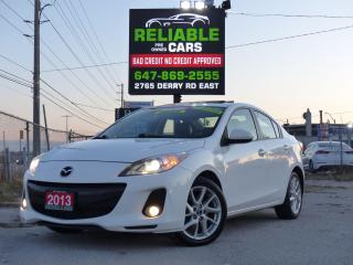 Used 2013 Mazda MAZDA3 GT,LEATHER,NAVI,BLINDSPOT MONITOR,CERTIFIED, for sale in Mississauga, ON