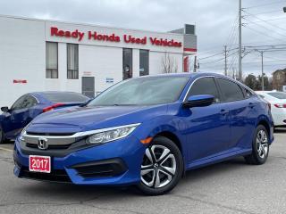 Used 2017 Honda Civic Sedan LX  - Bluetooth - Rear Camera - Heated Seats for sale in Mississauga, ON